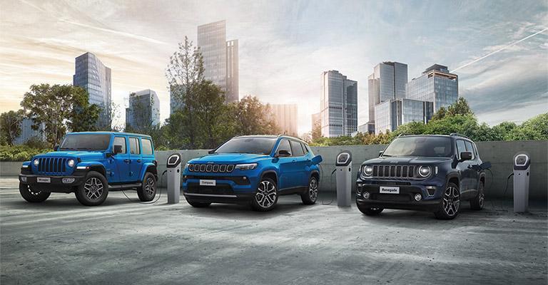 Jeep 4xe Plug-in Hybrid da <strong>199 euro</strong>al mese con wallbox + 1 anno di ricariche, solo a Ottobre!