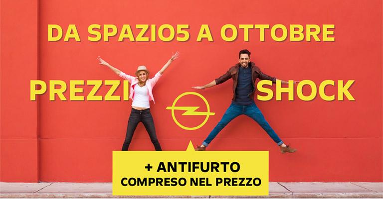 Prezzi Shock da Spazio5 su Gamma Opel <strong>fino a 7.800€ di sconto!</strong> Solo ad Ottobre!